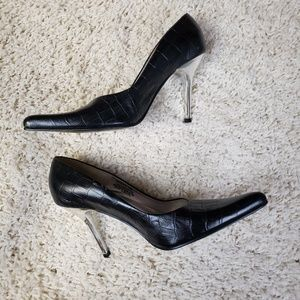 Steve Madden Black Heels Tarrah Size 6
